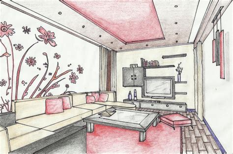 home design sketch simple popular sketches home design easy interior design