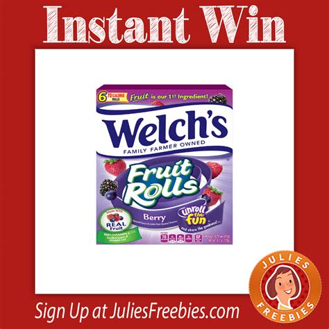 Facebook Instant Win Games - welch s instant win game julie s freebies
