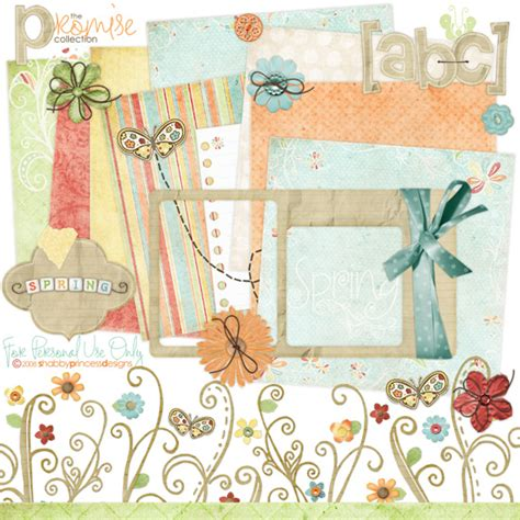 Digital Scrapbooking Free Downloads by Free Digital Scrapbook Kit Promise From Shabbyprincess