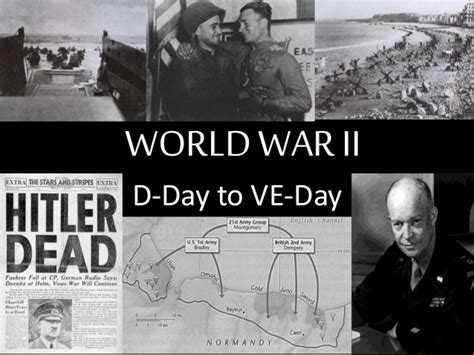 wwii d day to ve day