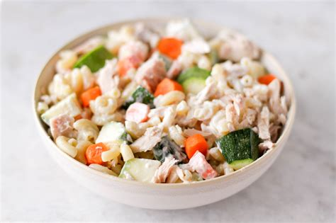 pasta salad with tuna how to make tuna pasta salad 6 steps with pictures