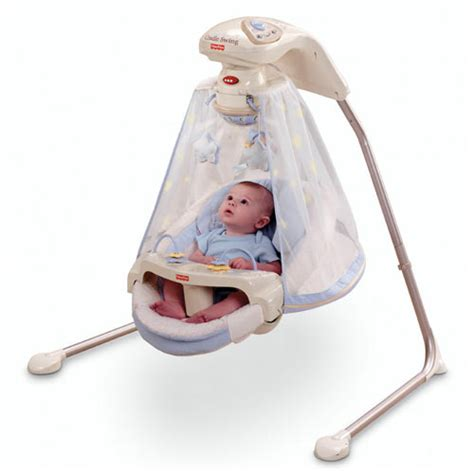swinging a baby starlight papasan cradle swing