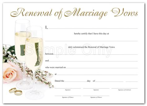 vow renewal certificate template 25 images of vow renewal certificate template crazybiker net