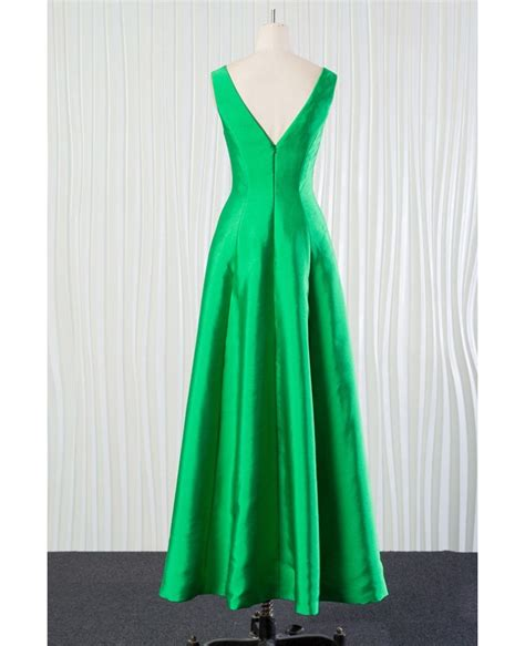 Bridesmaid Dresses 2018 Fall - simple green bridesmaid dress in satin for