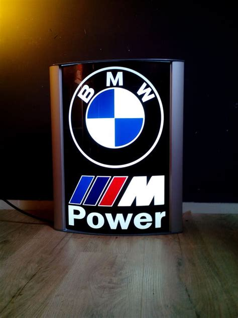 bmw dealership sign bmw mpower lichtreclame zuil illuminated bmw