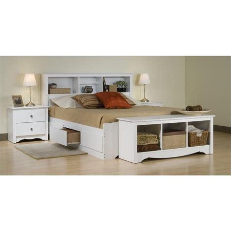 white queen platform bed with storage prepac monterey white queen wood platform storage bed 4