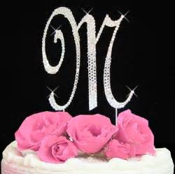 initial m cake topper letter m fully covered in