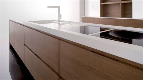 fancy luxurious kitchen design with glacier white corian