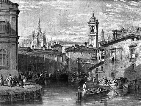 boat scene drawing boat scene at milan drawing by leitch engraving by t