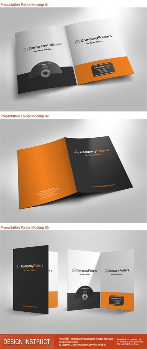 Free Psd Template Presentation Folder Mockup A4 Folder Template Psd