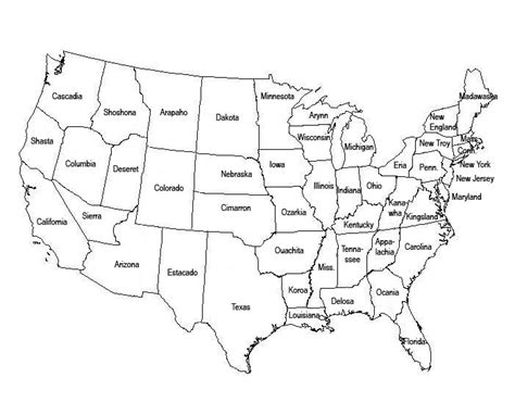 printable us map without state names united states map without names quotes