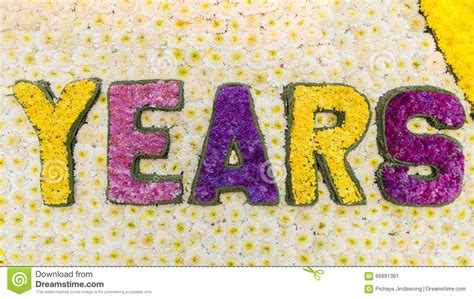 what is the new years made of word years is made from flowers stock image image 66691361