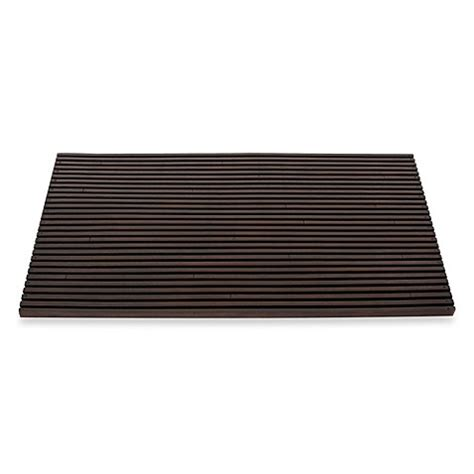 bed bath and beyond bath mats buy slat door mat in brown from bed bath beyond