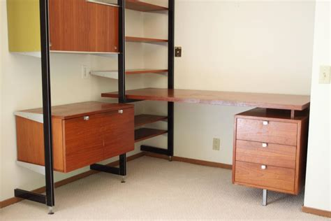 desk and wall unit combos george nelson for herman miller css desk and wall unit