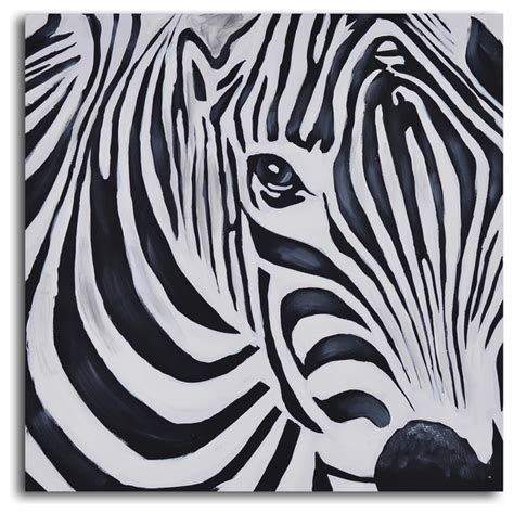 Paintings For Bathrooms by Zebra Perspective Hand Painted Canvas Art Eclectic