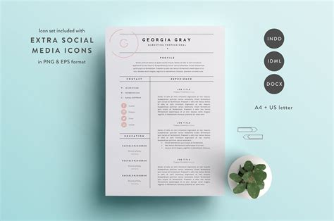 Creative Cv Templates by Resume Template 3 Page Cv Template Resume Templates