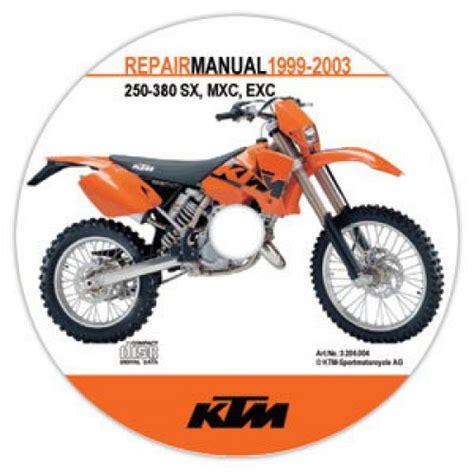 Ktm 250 Sx Service Manual 1999 2003 Ktm 250 380 Sx Mxc Exc 2 Stroke Repair Manual On