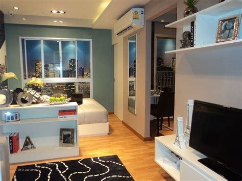 One Bedroom Condo Design Ideas by Studio Type 23 6 Sq M The Trust Condo Ngamwongwan In