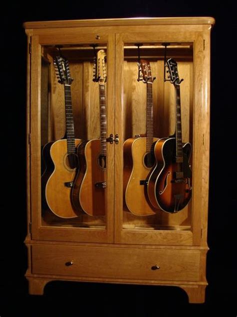 Guitar Storage Cabinet Guitar Display Cabinets Musical Pinterest Rooms Cases And My