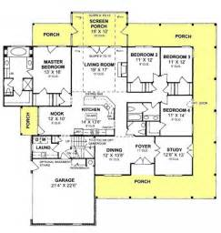 Floor Plans With Porches by 655863 4 Bedroom 2 5 Country Farmhouse With Screened