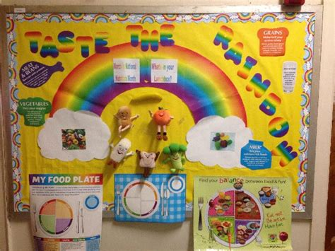 Rainbow Wall Murals pec bulletin boards for physical education