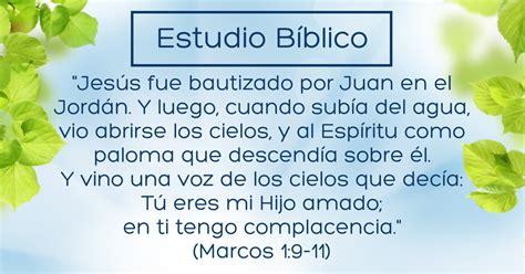 libro como el ro que estudio b 237 blico t 237 tulo el bautismo de jes 250 s marcos 1 9 11