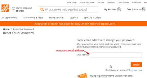home depot credit card login cc bank