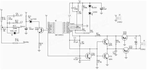 photoelectric sensor circuit diagram photoelectric smoke detector circuit diagram circuit and