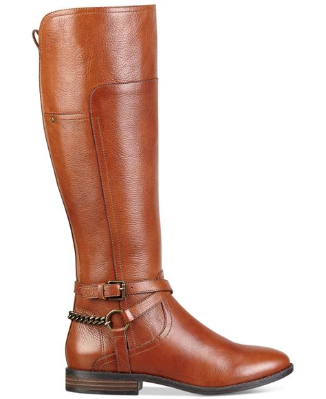 wide calf leather boots marc fisher wide calf boots in brown