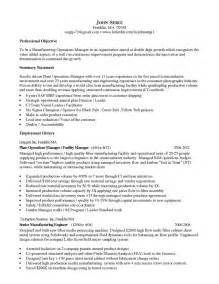 Plant Pathologist Sle Resume by Manufacturing Manager Resume