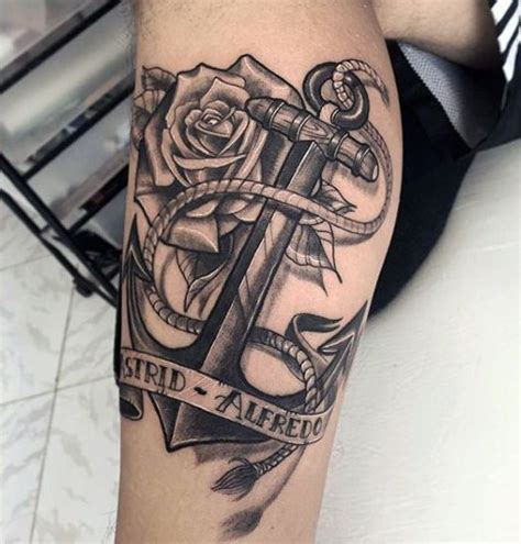 anchor tattoos for guys pin by smithdowney on anchor