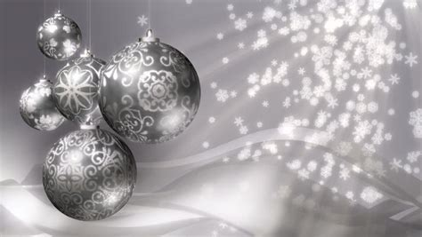 christmas background loop rotating silver christmas