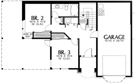 craftsman style with l shaped kitchen 69293am 1st