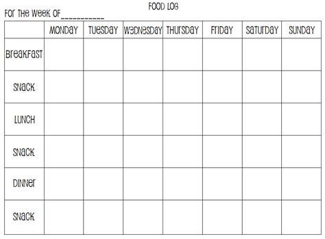 free printable food diary uk beautiful weekly calendar log calendar