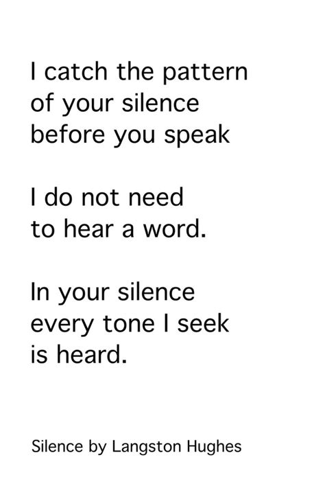 pattern poetry meaning silence by langston hughes poetry pinterest langston
