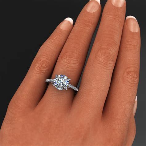 mia ring ? 2 carat diamond cut round NEO moissanite