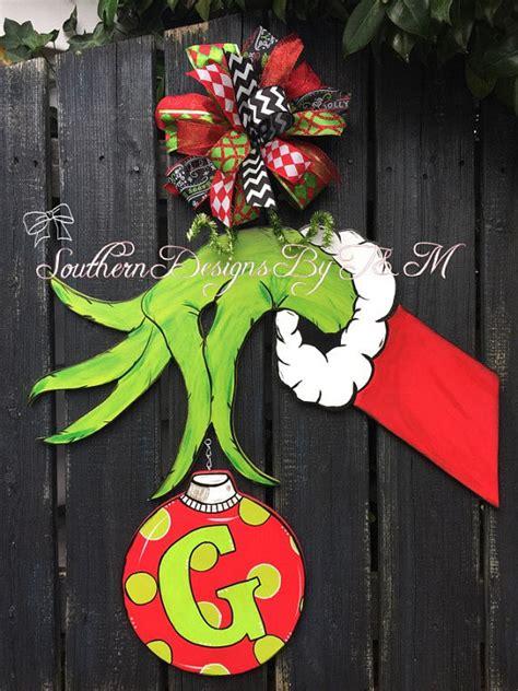 grinch hand door hanger christmas door hanger christmas