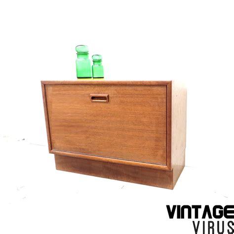 Dress Klep vintage kastje dressoirkastje met klep teakhout