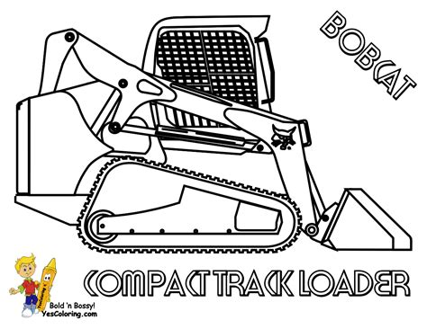 excavator coloring page printable macho coloring pages of tractors construction free