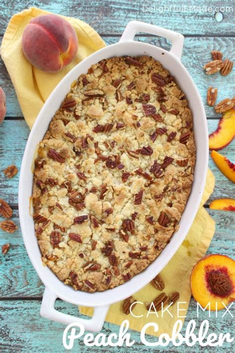 easy cobbler recipe with cake mix fresh cobbler with yellow cake mix recipe