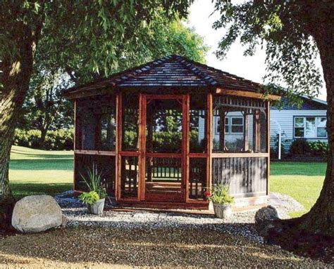 screened gazebo kits gazebo screen kits cedarshed usa