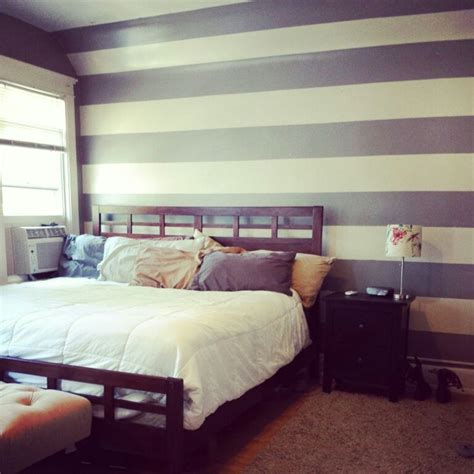 striped bedroom walls striped accent wall accentwall paint bedroom house