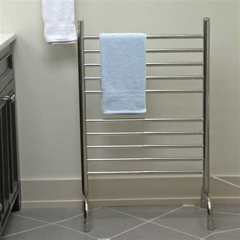 Practical Free Standing Towel Rack Modern Home Interiors Bathroom Towel Racks Shelves