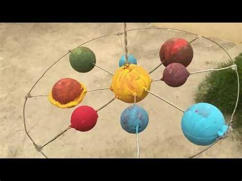 maqueta sistema solar movil