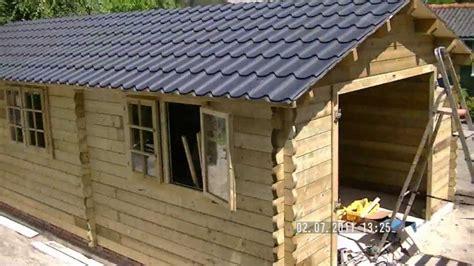 zelf l maken hout houten garage bouwen in 27 seconden youtube
