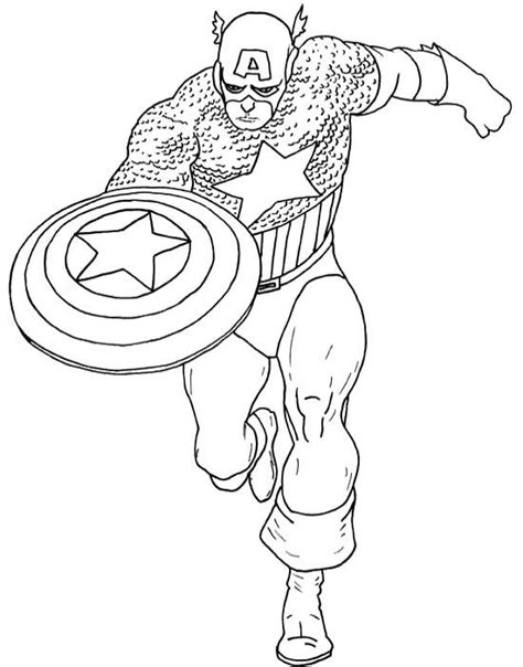 super hero captain america coloring page coloring pages