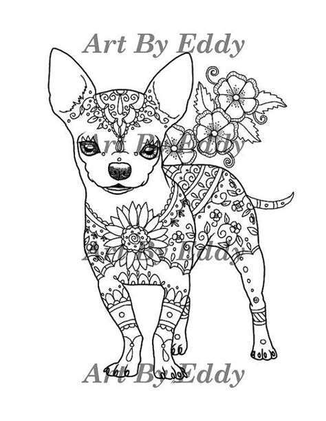 chihuahua puppy coloring page art of chihuahua single coloring page