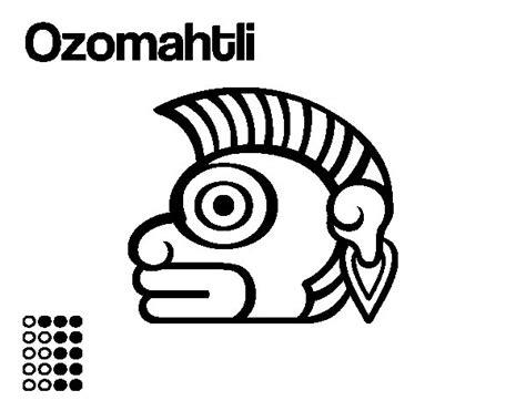 imagenes de los mayas para imprimir desenho de os dias astecas macaco ozomatli para colorir