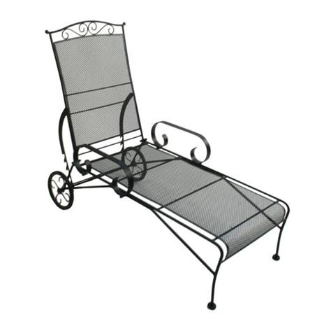 Black Wrought Iron Patio Chaise Lounge by Wrought Iron Chaise Lounge Patio Furniture Wrought Iron
