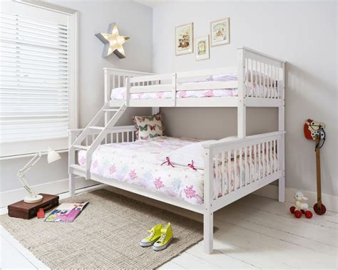 double toddler bed triple sleeper bed bunk bed double bed in white hanna ebay